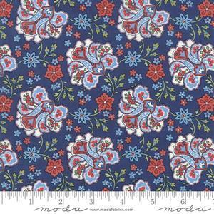 Moda Mackinac Island Navy Paisley Fabric 0.5m