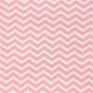 Chevron Candy Pink Fabric 0.5m