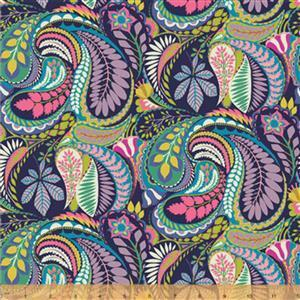 Solstice Prince Paisley on Multi Fabric 0.5m