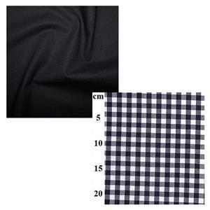 Navy Gingham Misses' Dresses Fabric Bundle (4m)