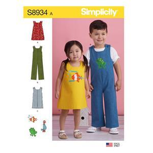 Simplicity Toddler's Jumper, Jumpsuit, and Romper Sewing Pattern Sizes 6months to 4years