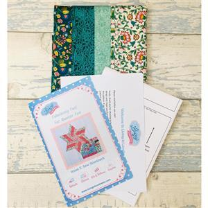 Living in Loveliness Fabulously Fast Fat Quarter Fun - Issue 5 - Sew Starstruck - Liberty Green