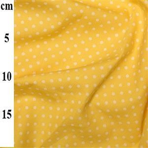 Rose and Hubble Cotton Poplin Spots on Lemon Fabric 0.5m