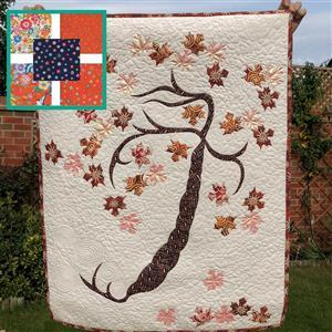 Delphine Brooks' Moda Lulu Autumn Tree of Life Kit: Instructions, FQ (5pcs) & Fabric (2m)