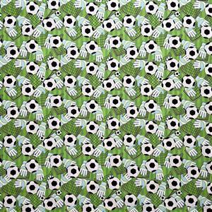 Football Gloves on Green Fabric 0.5m