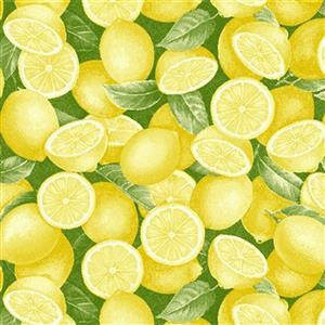 Just Lemons in Sliced Lemon Field Fabric 0.5m