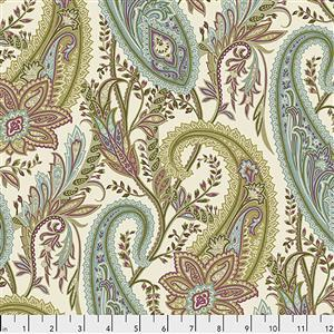 Sanderson Cashmere Paisley in Garden Fabric from Cashmere Range 0.5m