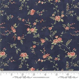 Moda 3 Sisters Memoirs Romantic Blooms on Indigo Fabric 0.5m