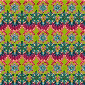 Odile Bailleouls MagiCountry Mini Plumettes Green Fabric 0.5m