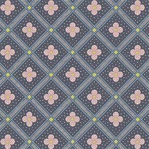 Liberty Summer House Collection in Light Blue Manor Tile Fabric 0.5m