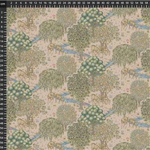 William Morris Granada in The Brook Small Blush Fabric 0.5m