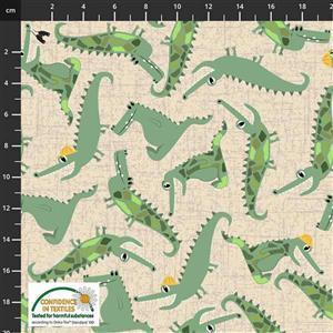 Coco's Safari Crocodile Cream Fabric 0.5m