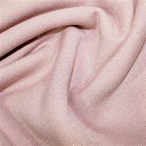 Pink Cotton Lurex Jersey Fabric 0.5m