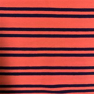 Black & Red Stripes Jersey Print Fabric 0.5m
