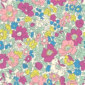 Liberty Cosmos Bloom Fabric from Flower Show Summer Range 0.5m