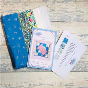 Living in Loveliness Patchwork Spool Liberty Cushion Kit - Option 2