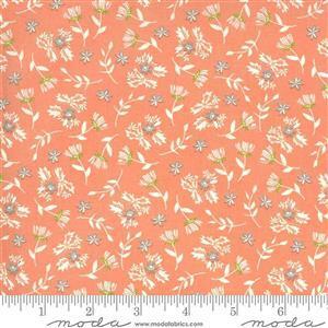 Moda Balboa by Sherri & Chelsi Dandelions on Coral Fabric 0.5m