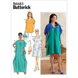 Butterick Misses' Tunic and Caftan Pattern: Size XS-M