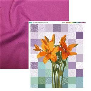 Lily Free Motion Quilting Fabric Panel & Fabric (1m). Save £3