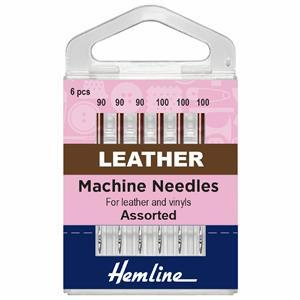 Hemline Sewing Machine Leather Needles Pack of 6