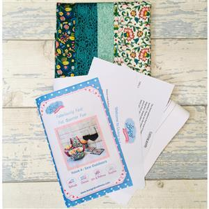 Living in Loveliness Fabulously Fast Fat Quarter Fun - Issue 4 - Sew Outdoors - Liberty Green
