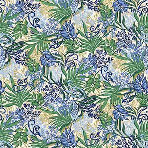 Marisol Leaf Allover Green Fabric 0.5