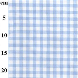 Yarn Dyed Cotton Gingham Pale Blue 0.5m