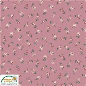 Emily in Pink Single Rose Fabric 0.5m