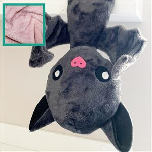 Rose Duo Bat Plush Kit: Free Instructions, Fabric (1m) & Toy Stuffing