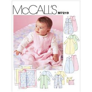 McCall's Infants' Buntings, Jumpsuits, Hats and Blanket Sewing Pattern