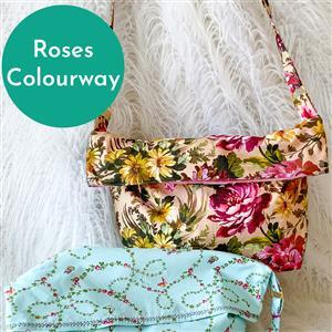 Roses Helen Newton's Messenger Tote Bag Kit: Instructions, Fabric (1.5m) & D-Rings
