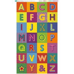 Alphabet Wall Hanging Fabric Panel: 70cm x 120cm. Exclusive