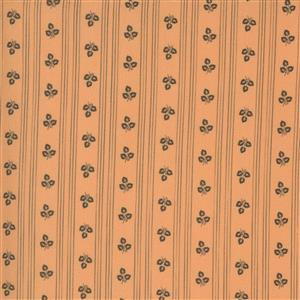 Moda Squirrelly - Vertical Lines - Apricot Stripe Fabric 0.5m