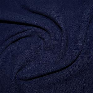 Stone Washed 100% Linen Navy 0.5m