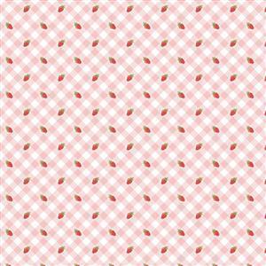 Poppie Cotton Farmgirls Unite Tomboy On Pink Fabric 0.5m