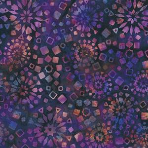 Wine Night in Purple Firework Fabric 0.5m