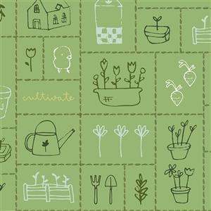 Gardening Green Fabric 0.5m