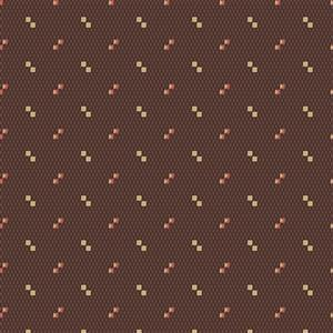Wildflower Woods in Brown Spotted Fabric 0.5m