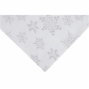White Glitter Snowflake Felt Sheet 23x30cm