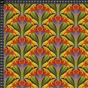 Sassy Summer Salsa Orange Marigold Fabric 0.5m