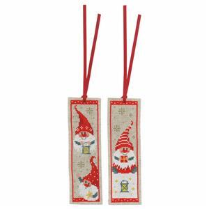 Christmas Gnomes Counted Cross Stitch Bookmark Kit Pack of 2