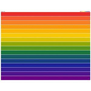 Rainbow Jelly Roll Fabric Panel. Size 140 x 100cm. Exclusive. Special Price