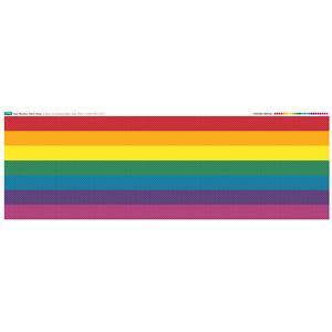 Rainbow Strips Spots Fabric Panel: 140cm x 48cm. Exclusive