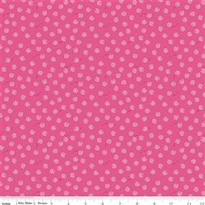 Riley Blake Chloe & Friends Yarn Ball Hot Pink Fabric 0.5m