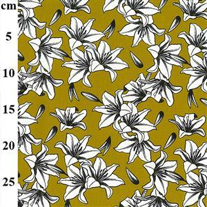 Ochre Lilly Stunning digital-printed cotton canvas 0.5m