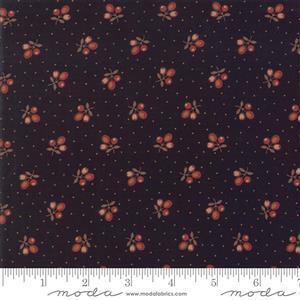 Moda Lancaster in Black Berry Fabric 0.5m