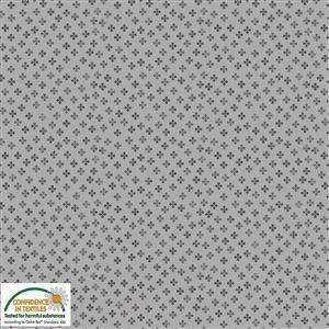 Gradiente Clubs On Grey Fabric 0.5m
