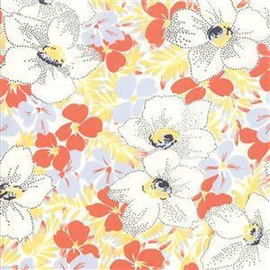 Moda Fine & Sunny Mango Cream Floral Fabric 0.5m