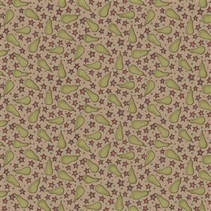 Anni Down On the 12th Pears Taupe Fabric 0.5m