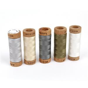 Aurifil Calm Collection Pack of 5 Small Spools